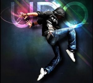 UDO Logo of dancing male for Street Dance by S.E. Productions in Elgin